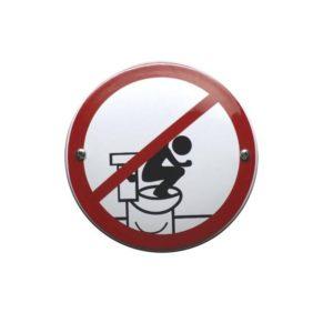 Verboden Bord #V16 Niet op de bril staan 10x10cm