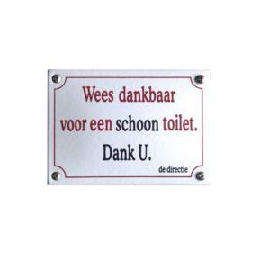 Horeca Emaille #KNH63 Schoon toilet 10x14cm