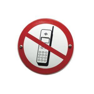 Verboden Bord #V09 Mobiele Telefoons 10x10cm