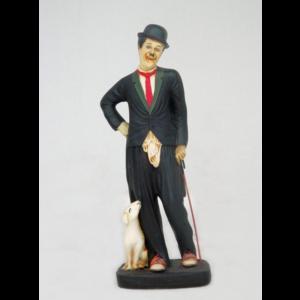631 Comedian Man with Dog - Charlie Chaplin