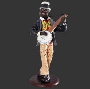 H-80027 Bayou Banjo Player - Jazz Banjo Speler