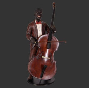 H-90031 Double Bass Player - Jazz Bassist