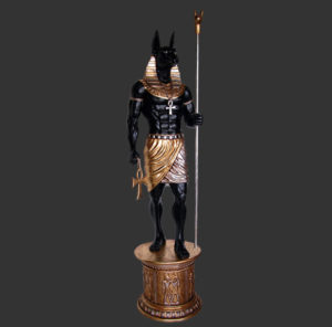 AFA6B Egyptian Anubis with Base - Egypte
