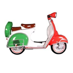 DF 6450-I Scooter Wall Decor with Italian Flag