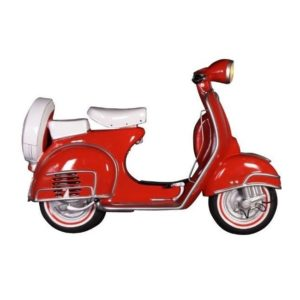DF 6450-R Scooter Wall Decor Red