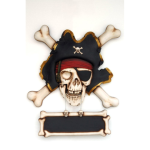 EW Pirate Skull Bone Wall Decor - Piraat
