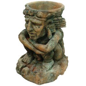 TB-FSC-007 Inca Sitting Man Planter - Plantenbak