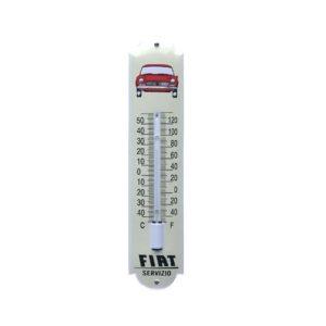 """Thermometer Emaille """"Fiat Servicio"""" 7x30cm"""