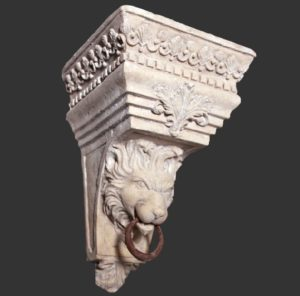 H-60703 Bracket Lion Wall RS - Pilaar