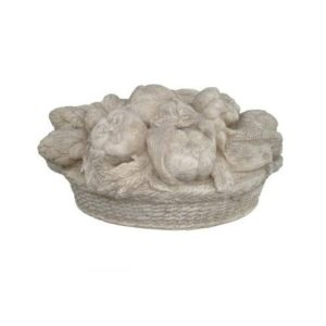 H-140503 Stone Finished Basket Tuscan RS