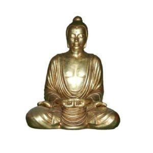 H-30407-GL Buddha Sitting Gold Leave - Boeddha