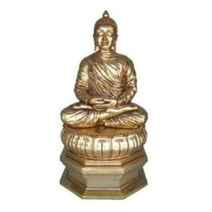 H-30414-G Buddha Divine Lotus Gold - Boeddha