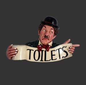 HFCTS Toilet Comedian Sign - Toiletbord