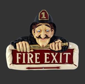 HFFES Fire Man Exit - Nooduitgang