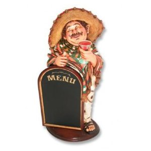 HFMW3 Waiter Mexican Menubord- Mexicaan