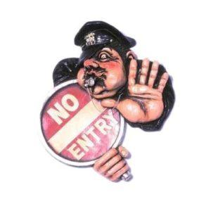 HFNPS Police Man No Entry - Verboden Toegang