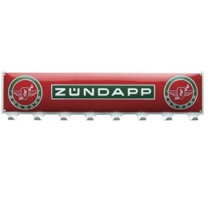 """Kapstok Emaille """"Zundapp"""" 70 x 17 cm"""