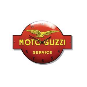 "Klok Emaille ""Moto Guzzi"" 40x53cm"