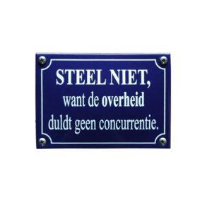 Horeca Emaille #KNH90 Steel Niet 10x14cm