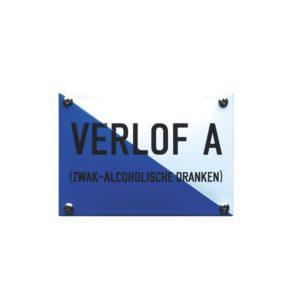 Horeca Emaille #KNH34 Verlof A 10x14cm