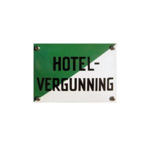 Horeca Emaille #KNH35 Hotel vergunning 10x14cm