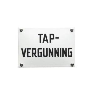 Horeca Emaille #KNH23 Tap vergunning 10x14cm