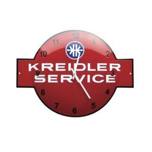 """Klok Emaille """"Kreidler"""" 40x53cm"""