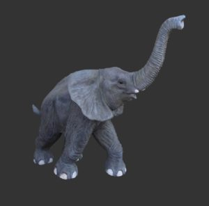 H-90026 Walking baby Elephant - Baby Olifant