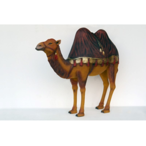 ME Camel wiyh Burgundy Rug - Kameel