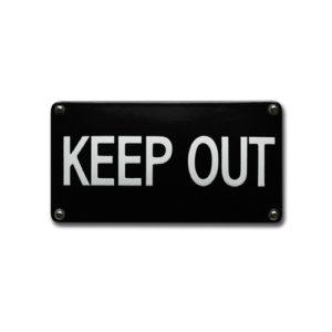 Veiligheids Bord #NH100 Keep Out 10x20cm