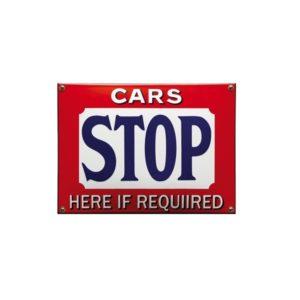 Veiligheids Bord #NH104 Cars Stop 19x26cm