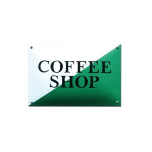 Horeca Emaille #NH107 Coffee Shop 20x30cm