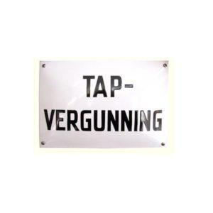 Horeca Emaille #NH23 Tap vergunning 20x30cm