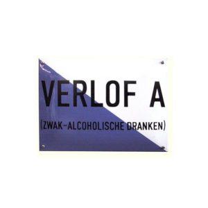 Horeca Emaille #NH34 Verlof A 23x32cm