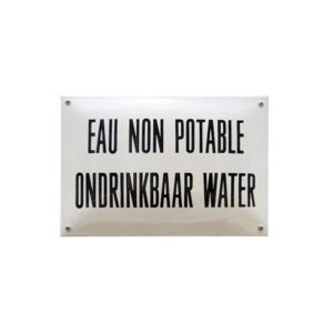 Horeca Emaille #NH47 Geen drinkwater 20x30cm