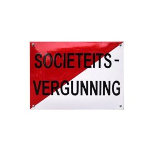 Horeca Emaille #NH49 Societeits vergunning 23x32cm