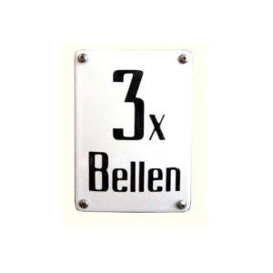 Horeca Emaille #NH56 3 x bellen 10x14cm