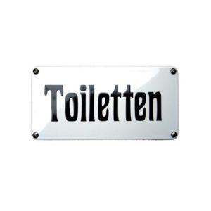 Horeca Emaille #NH68 Toiletten 10x20cm