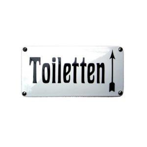 Horeca Emaille #NH69 Toiletten 10x20cm