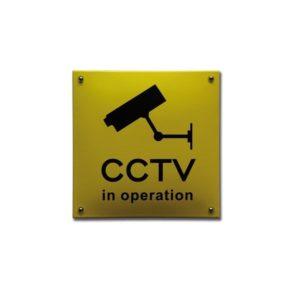 Veiligheids Bord #NH98 CCTV 20x20cm