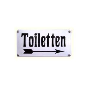 Horeca Emaille #NH52 Toiletten 10x20cm