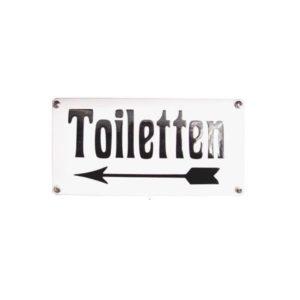Horeca Emaille #NH53 Toiletten 10x20cm