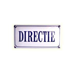 Horeca Emaille #NH54 Directie 10x20cm