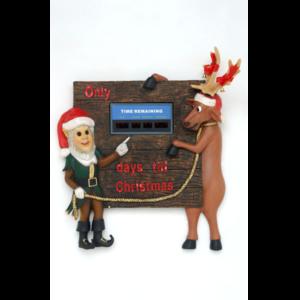 PB-06 Elf and Funny Reindeer Wall Decor - Rendier