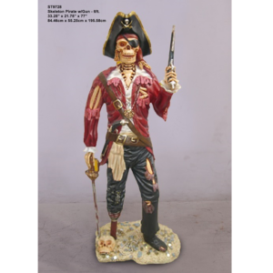 ST9728 Piraat Skeleton with Gun 6 ft - Halloween