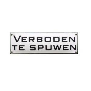 Trein & Tram #TR13 Verboden te Spuwen 7x22cm