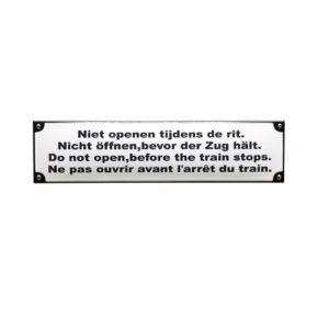 Trein & Tram #TR16 Niet Openen 7x28cm