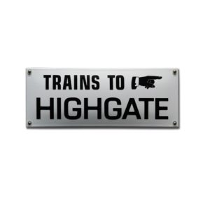 Trein & Tram #TR33 Highgate 31x11cm
