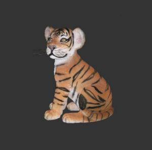 H-80149 Tiger Cub Sitting - Tijger