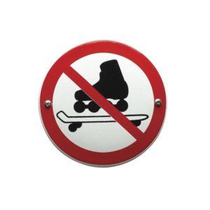 Verboden Bord #V06 Skaten - 10x10cm